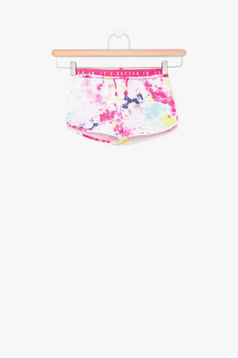 SHORT MODE TENTH TIE DYE FILLE